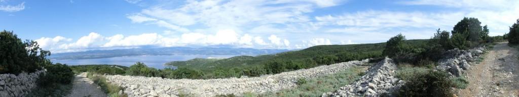Blick aufs Festland, Nähe Vrbnik