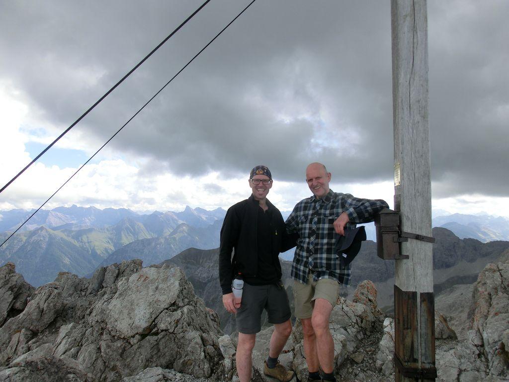 Die Mädelegabel, 2te Gipfelbesteigung vom Heilbronner Weg.